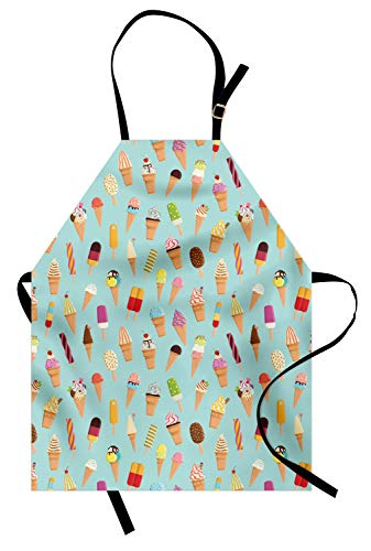 Ambesonne Dessert Apron, Repeating Pattern of Colorful