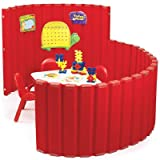 48'' SoundSponge Quiet Dividers Wall with 2 Support Feet Color: Strawberry