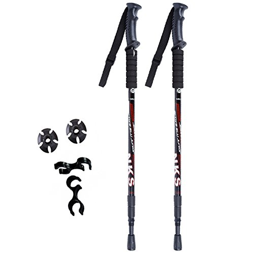 2Pcs/lot Ultralight Adjustable AntiShock Walking Sticks Telescopic Trekking Hiking Poles Walking Canes With Rubber Tips Protectors - Uk Cat White Eye Sunglasses
