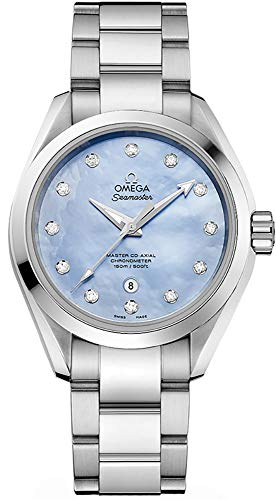 Omega Seamaster Aqua Terra Lavender Mother of Pearl Dial Ladies Watch 231.10.34.20.57.002
