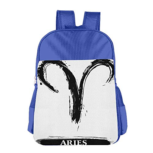 Price comparison product image Haixia Teen's Boys'&Girls' Backpacks Astrology Aries Astrology Sign with Artsy Grunge Illustration Elements Character Venus Decorative White Black