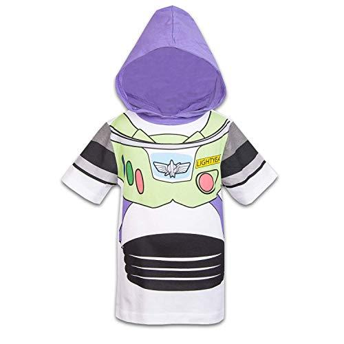 Disney Toy Story Boys Hooded Shirt Toy Story Costume Tee - Buzz Lightyear Sheriff Woody (Buzz Lightyear, 5T) ()
