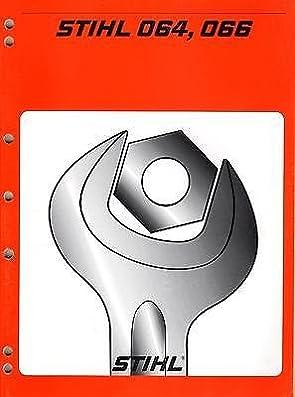 stihl chain saw 064 066 service manual p n 045 130 0123 285 rh amazon com Stihl Parts Catalog stihl 066 parts manual pdf