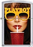 Zippo Playboy August 82 Cover Satin Chrome Windproof Lighter