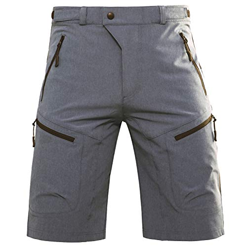 Hiauspor MTB-Shorts-Mountain-Bike-Short (Grey L (Waist: 32-34