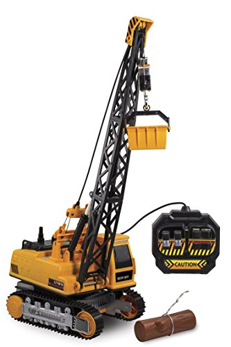 Kid Galaxy Remote Control Crane. 8-Function Construction Toy Vehicle