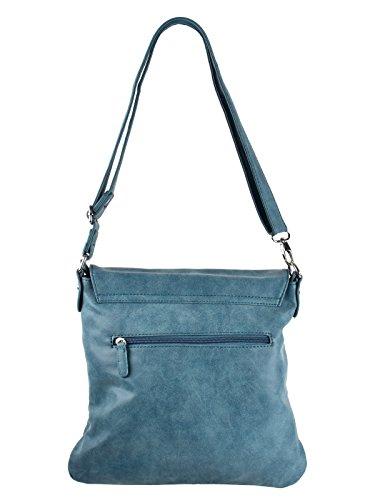 A Tracolla Borsetta Con Usato Effetto Street Blu Bag E8qT7