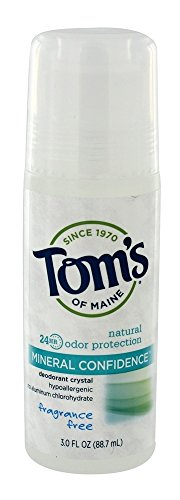 Tom's of Maine Fragrance Free Natural Confidence Roll-On Deodorant, 3 oz ()