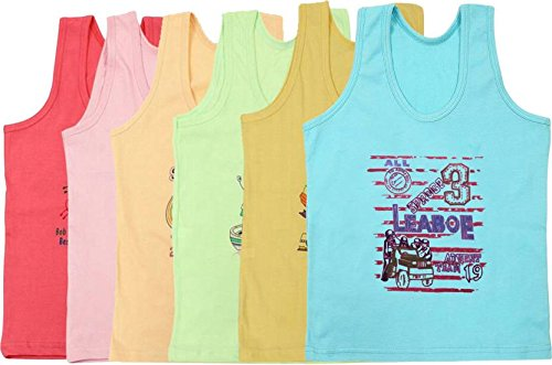 45670e0b3 SIRTEX KIDS VEST (PACK OF 6)  Amazon.in  Clothing   Accessories
