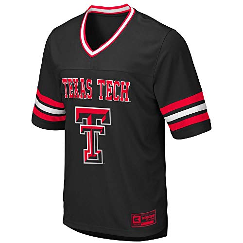 (Colosseum Mens Texas Tech Red Raiders Football Jersey - L)