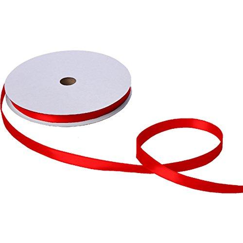 Jillson & Roberts Double-Faced Satin Ribbon, 5/8'' Wide x 100 Yards, Red by Jillson Roberts
