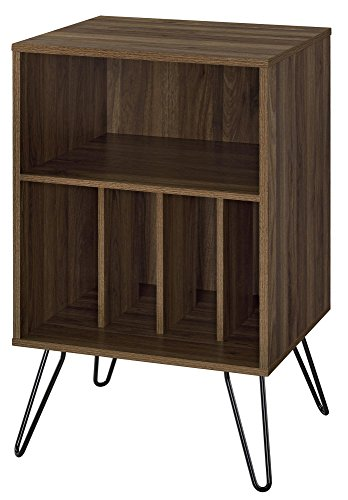 Novogratz 1324222COM Concord Turntable Stand, Single, Walnut