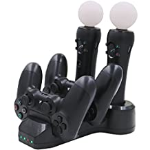 Balerion PS VR Controller Charging Station/Charging Dock for PlayStation VR and PS Move Motion Controller