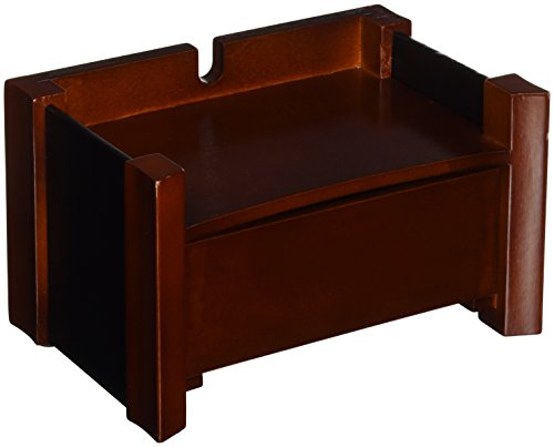 Rolodex Wood and Faux Leather Wireless Hutch, Mahogany and Black (81775) - Mahogany Desk Caddy