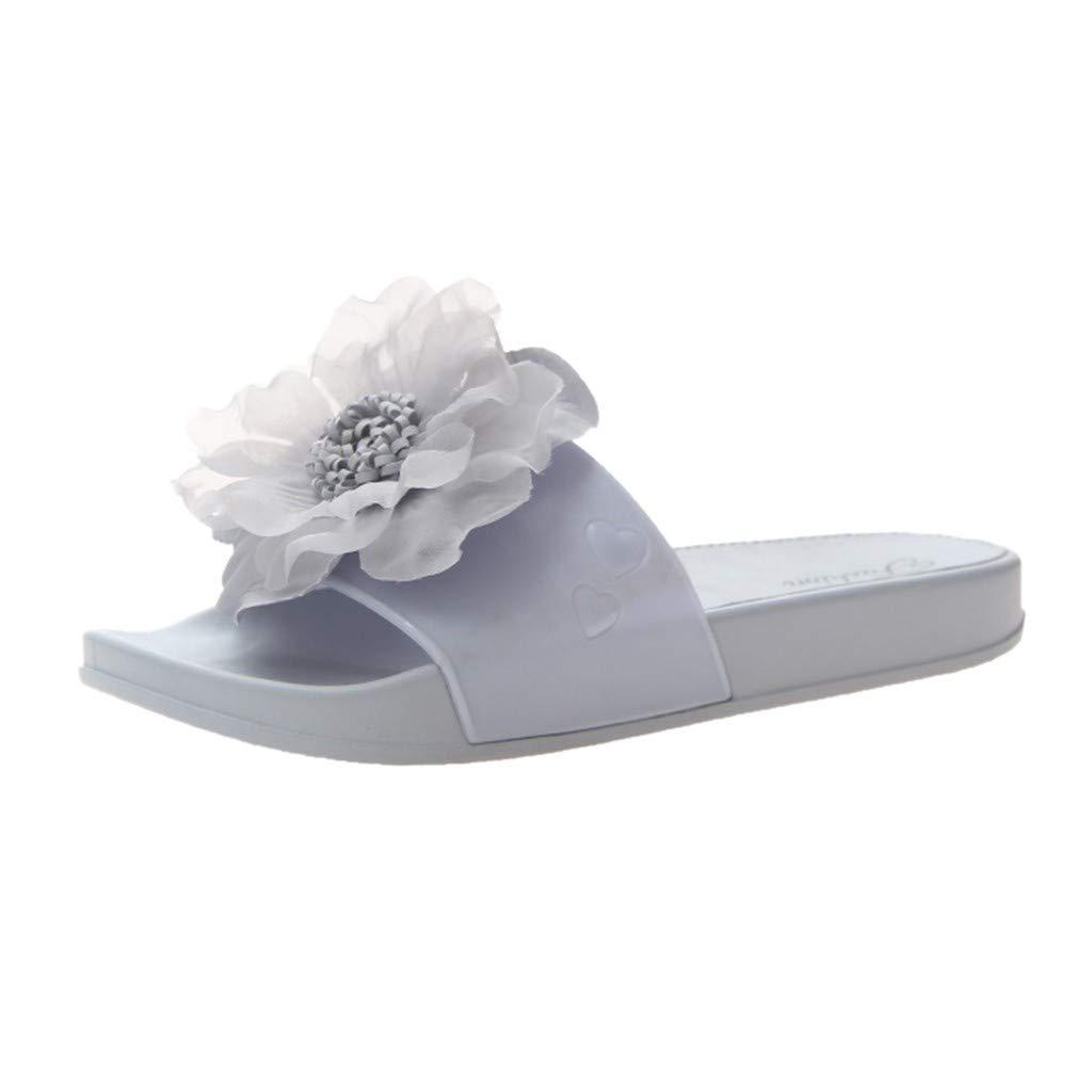 Cebbay Chausson Femme Chaussures de Fleurs d'été Pantoufles Maison Plage Sandales 36-41