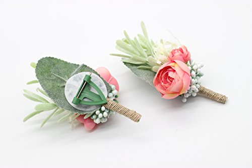 Yokoke-Artificial-Succulent-Boutonniere-Bouquet-Corsage-Wristlet-Vintage-Silk-Fake-Pink-Flowers-flocked-Plants-For-Groom-Bride-Wedding-Decor-2-Pcs-Corsage
