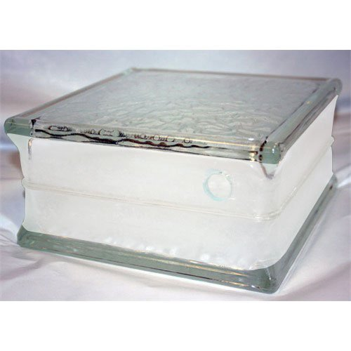 Pre-drilled Glass Block 8x8x4 for Craft and Hobby Ideas