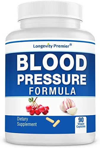 Longevity Blood Pressure Formula [90 Capsules] - Scientifically formulated with Natural Herbs. Best Blood Pressure Supplement