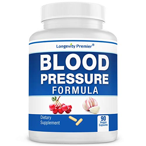 Longevity Blood Pressure Formula [90 Capsules] - Scientifically formulated with Natural Herbs. Best Blood Pressure Supplement (Best Way To Control High Blood Pressure)