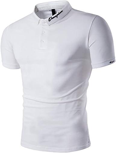 Gdtime Polos Hombre Polo de Manga Corta Polo de algodón Camiseta ...