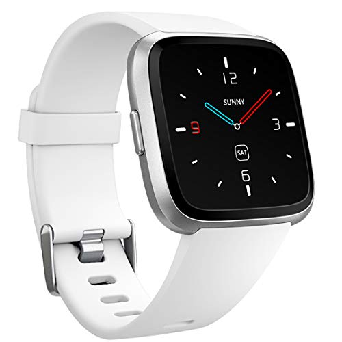 Ouwegaga Bands for Fitbit Versa, for Fitbit Versa Smartwatch Wristbands Fitness Sport Straps for Men Women Small White