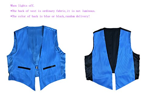 LED Fiber Optic Waistcoat Light up Vest for Men Fashion Glow in The Dark Luminous Vest (XL, Blue) by Fiber Optic Fabric Clothing (Image #5)