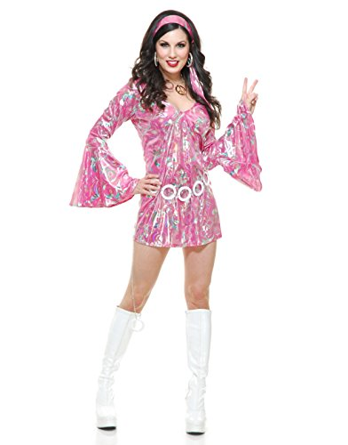[Disco Queen Adult Costume Pink - X-Small] (Disco Queen Halloween Costume)
