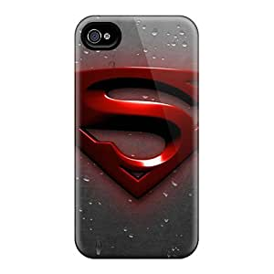 PhilHolmes Iphone 4/4s Shockproof Hard Phone Covers Support Personal Customs Fashion Superman Image [OkW5336GcdU]