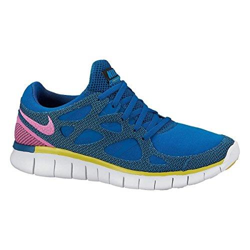 NIKE Chaussures Enfant Garçon Femme Nike Free Run 2Ext Grn Abyss/RD VLT de BRGHT ctrn de bl