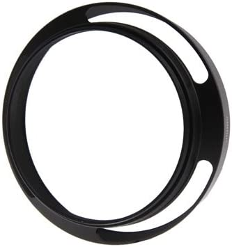 Black CAOMING Metal Vented Lens Hood for Lens with 58mm Filter Thread Durable