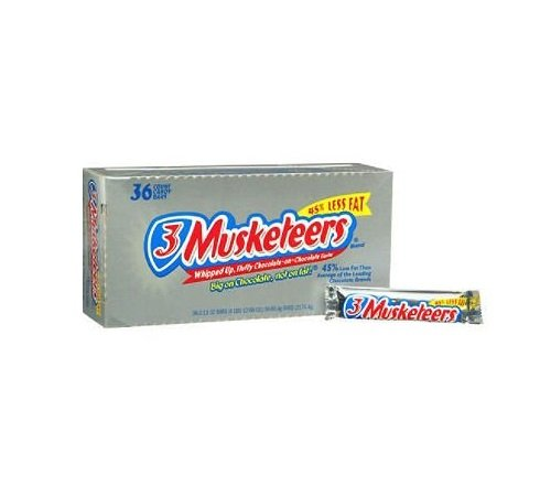 3 Musketeers Candy Bar (2.13 oz., 36 ct.) - Three Bar Candy Musketeers