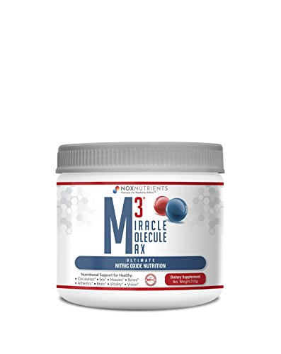 Nitric Oxide Cardiovascular Heart Supplement – M3 Miracle Molecule Max – by BioNox Nutrients – Arginine Citrulline Beet Root Powder Antioxidant Heart Health Powder