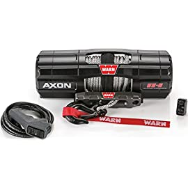 WARN 101150 AXON 55-S Powersports Winch with Spydura Synthetic Cable Rope: 1/4″ Diameter x 50′ Length, 2.75 Ton (5,500 lb) Pulling Capacity