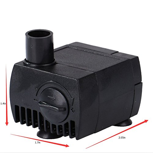 MAXZONE 80 GPH (300L/H, 4W) Submersible Water Pump- Ultra Quiet for Pond, Aquarium, Fish Tank Fountain, Powerful Water Pump with 6ft (1.8m) Power Cord