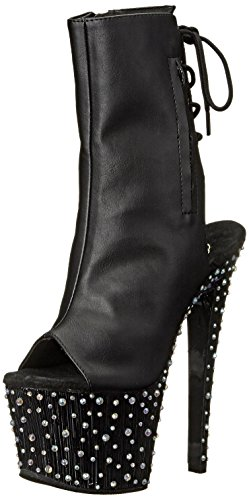 Stardance Escarpins Pleaser Multi 7 Faux blk Rs Noir Femme Slv 1018 blk Leather TqqBtwd