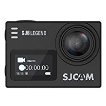 "SJCAM SJ6 LEGEND Sport Action Camera 4K 2K 2"" LCD Back Touch Screen External Mic Metal Body Gyro Slow Motion BLACK + 1 EXTRA BATTERY + DUAL SLOT CHARGER"
