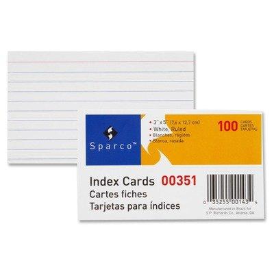 Amazon.com: spr00351 – Sparco Ruled índice Cards: Office ...