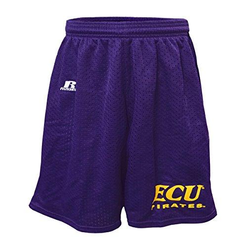 - East Carolina Purple Youth Mesh Shorts with ECU Pirates Logo (Youth X-Large)