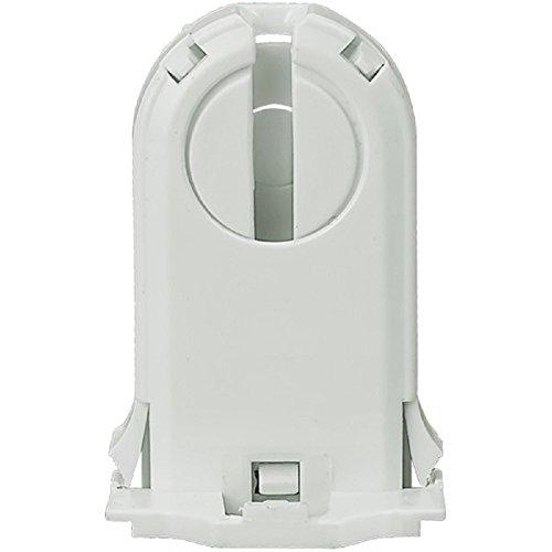 Leviton Fluorescent Medium Bi Pin - Leviton 23660-SNP Fluorescent Lampholder, Medium Bi-Pin, Snap-in, White