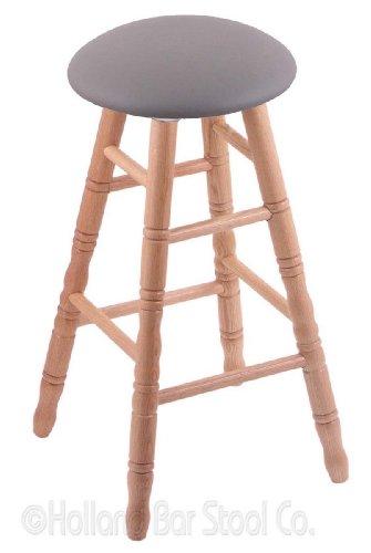 Swivel Stool Pub Oak Natural - Oak Counter Stool in Natural Finish with Allante Medium Grey Seat