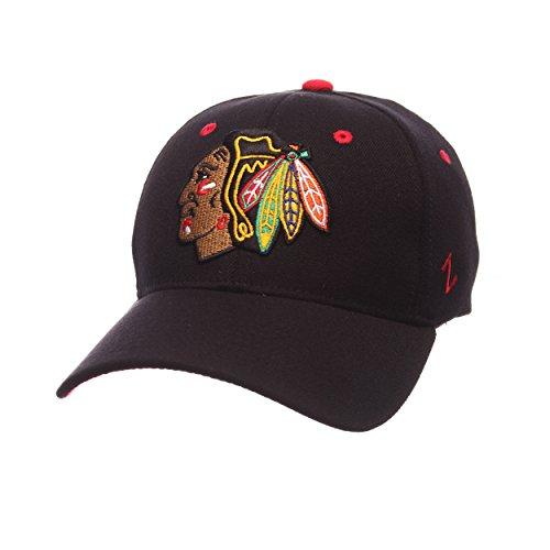 Zephyr Nhl Chicago Blackhawks Mens Breakaway Cap  Large  Black