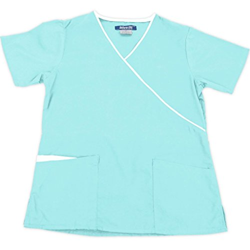 NATURAL UNIFORMS Womens Contrast Medical