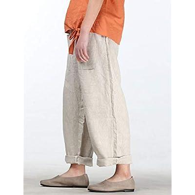 Mordenmiss Women's Casual Cotton Linen Pant w/Unique Pockets: Clothing