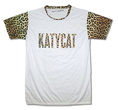 Katy Perry Katycat Juniors Womans White Ringer T Shirt