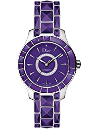 New Ladies Christian Dior Christal Purple Diamonds 38mm Automatic Watch