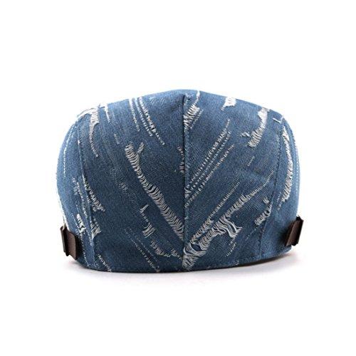 472bd34a9 WAZZIT Denim Flat Newsboy Cap Jeans Caps Old Fashion Cowboy Cap ...