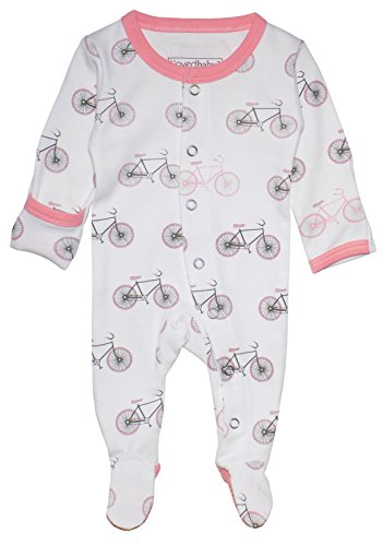 Gloved Sleeve Overall - L'ovedbaby Organic Footed Overall Coral Bicycles 0-3m