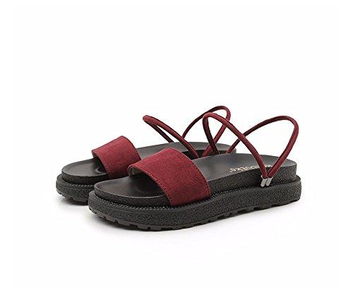 Plat Chaussons Semelles épaisses weiwei Lady C Summer de Et Et Élégant Sandale Doux 6OBxY