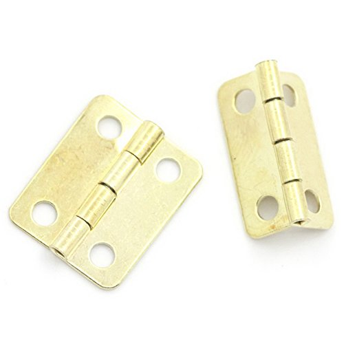 Housweety Hinge Holes Golden 19mmx17mm