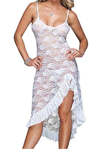 da Lace Bianco YayZai S Lingerie Camicia Sexy 6XL YouYaYaZ Pajamas Bedgown notte CHfqC